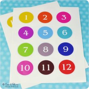 Aufkleberzahlen Adventskalender