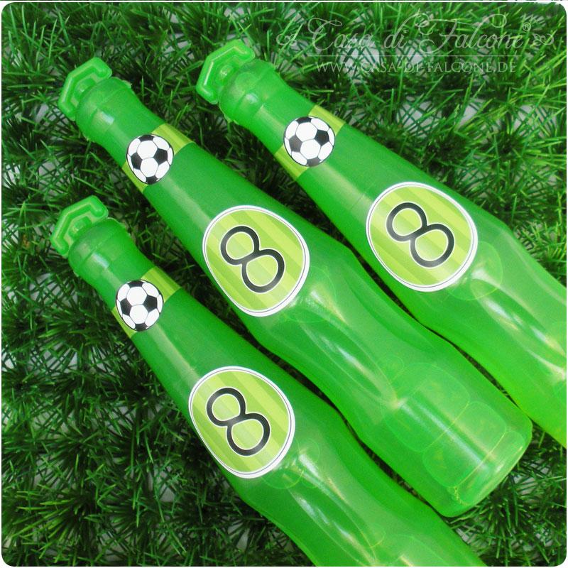 Flaschenhalsaufkleber Fussball