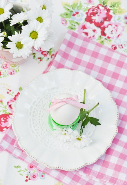 Osterdeko in rosa & mint