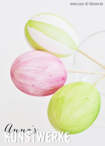 Eierfärben mit Wasserfarben