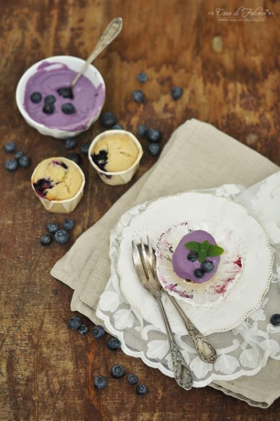 Heidelbeere-Cupcakes
