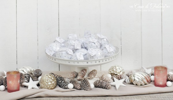 Adventskalender No. 10 I shabby grau & weiss I Casa di Falcone