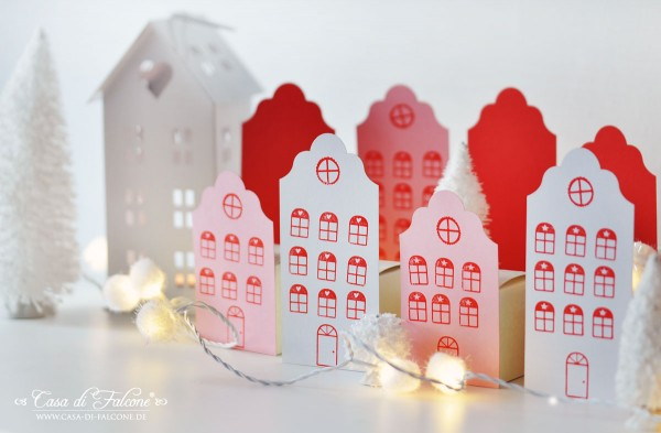 Adventskalender No. 15 I Häuserstadt I DIY & free printable I Casa di Falcone