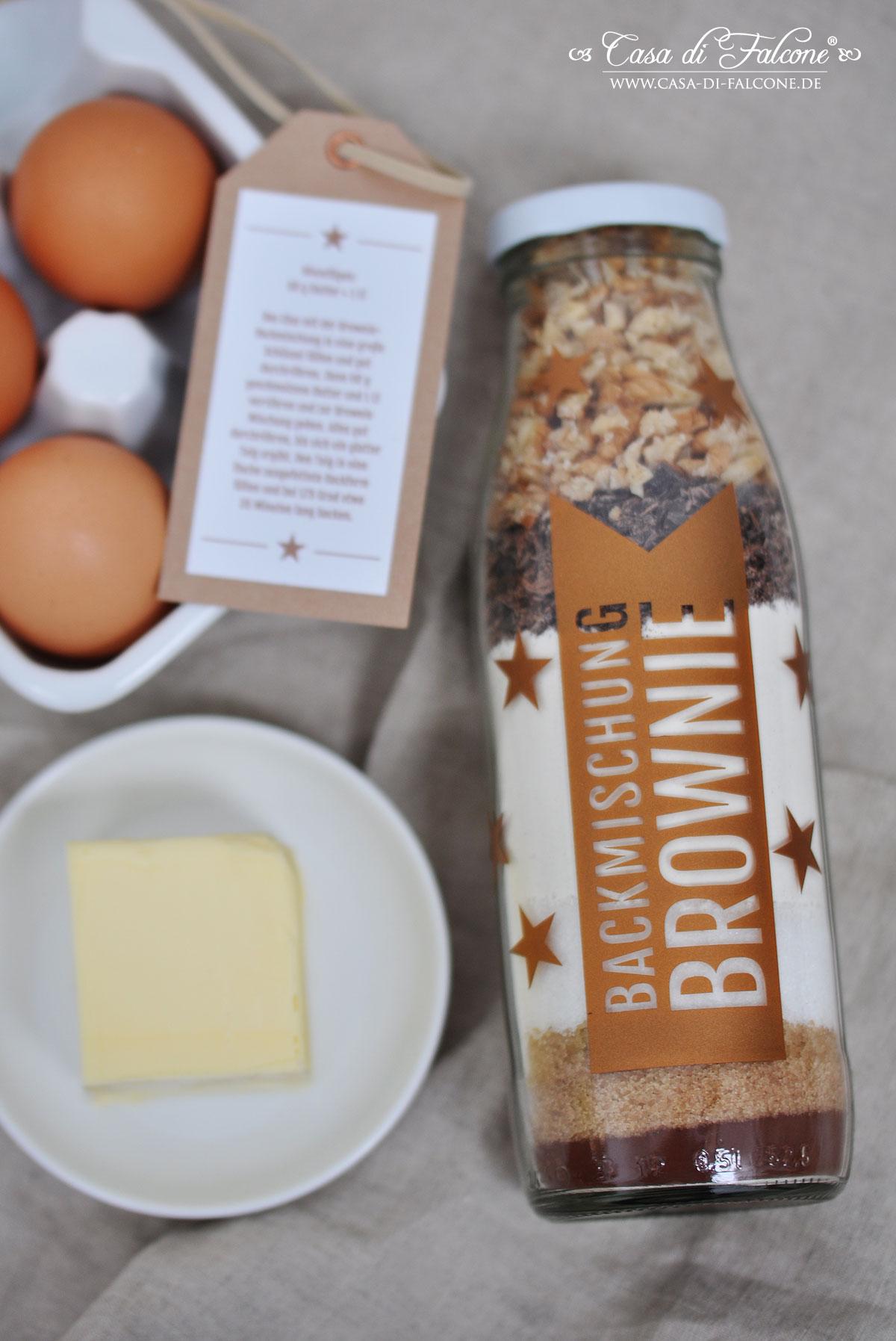 Backmischung Brownies Verpackungsidee Casa Di Falcone