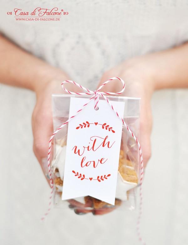 Zimtsterne hübsch verpackt I Weihnachtsbäckerei I Weihnachtskekse I Geschenke aus der Küche I Casa di Falcone