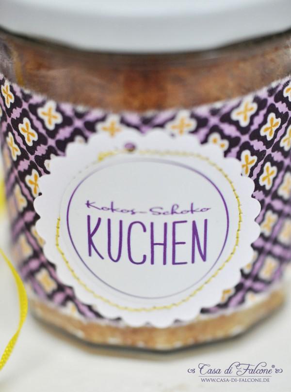 Kokos-Schoko-Kuchen im Glas I Geschenke aus der Küche I Casa di Falcone