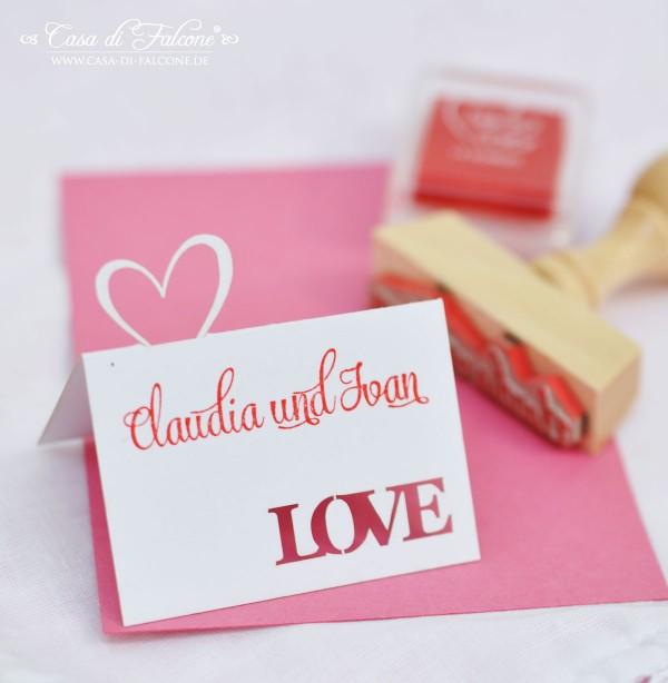 Lasercut Karte I Tischkarte I Hochzeitspapeterie I Gastgeschenke I Casa di Falcone