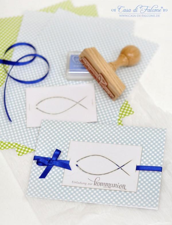 Kommunion I Gastgeschenk I Einladungkarte I Kommunionsstempel I Lasercut I Casa di Falcone