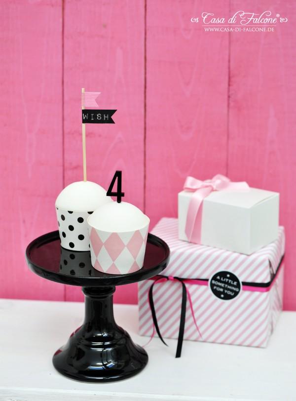 Cupcake Topper aus Acryl I Cupcakedeko I Cupcake Stecker I Casa di Falcone