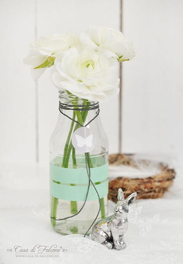 Milchflasche I Osterdeko I Tischdeko I Casa di Falcone