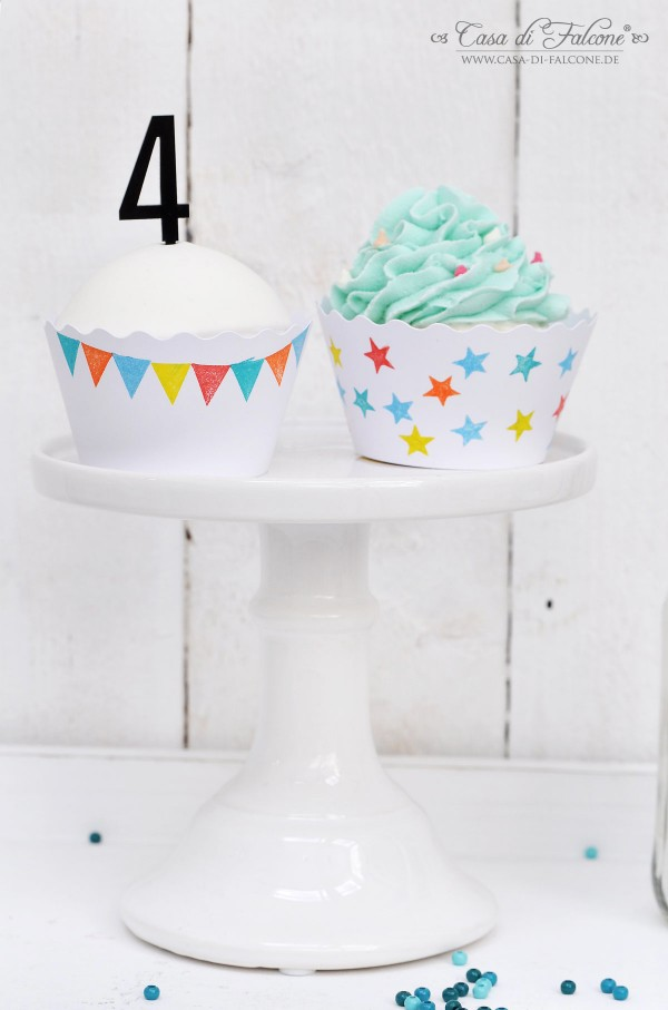Cupcake Wrapper I diy I Zahlenstecker I Casa di Falcone