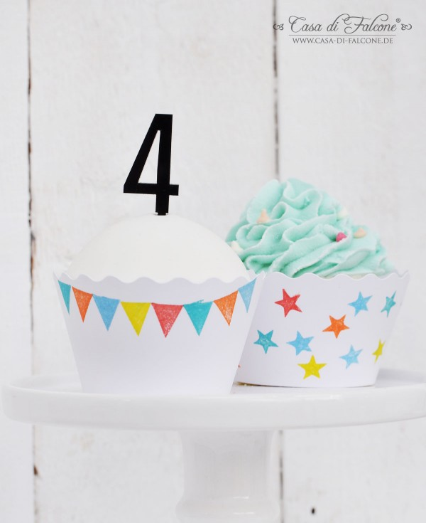 Cupcake Wrapper I diy I Zahlenstecker I Casa di Falcone