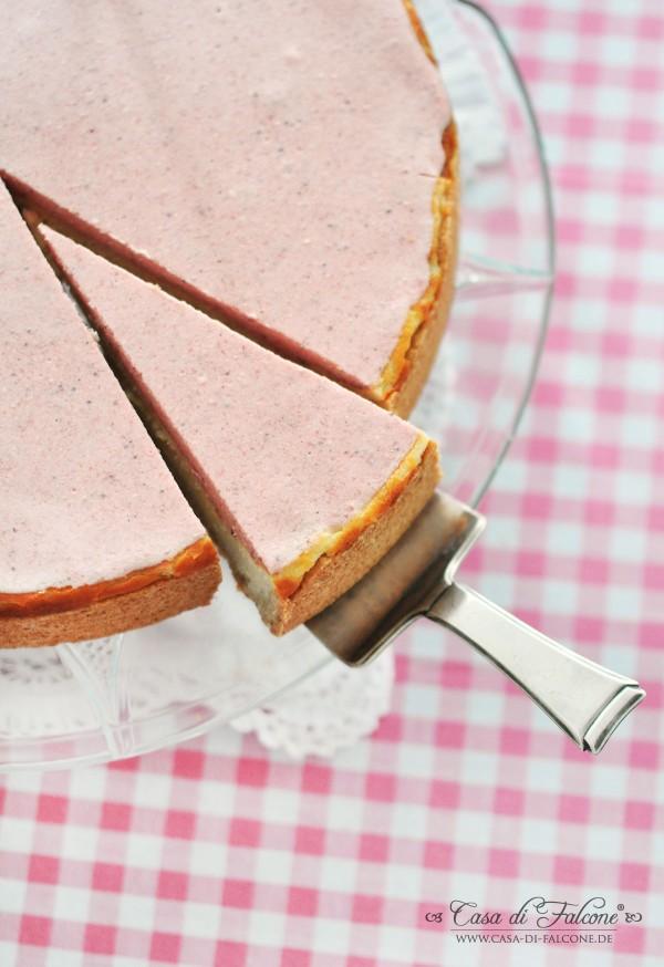 Erdbeer-Käsekuchen {Rezept} I Kuchenwimpelkette I Wimpel I Casa di Falcone