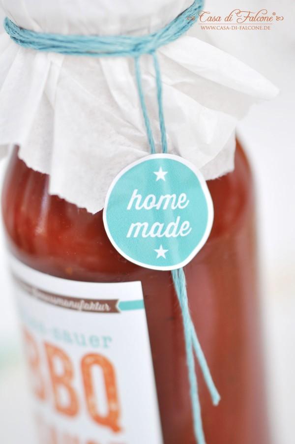 süß-saure BBQ-Sauce für Spareribs {Rezept} I Verpackungsidee I Geschenke aus der Küche I Casa di Falcone