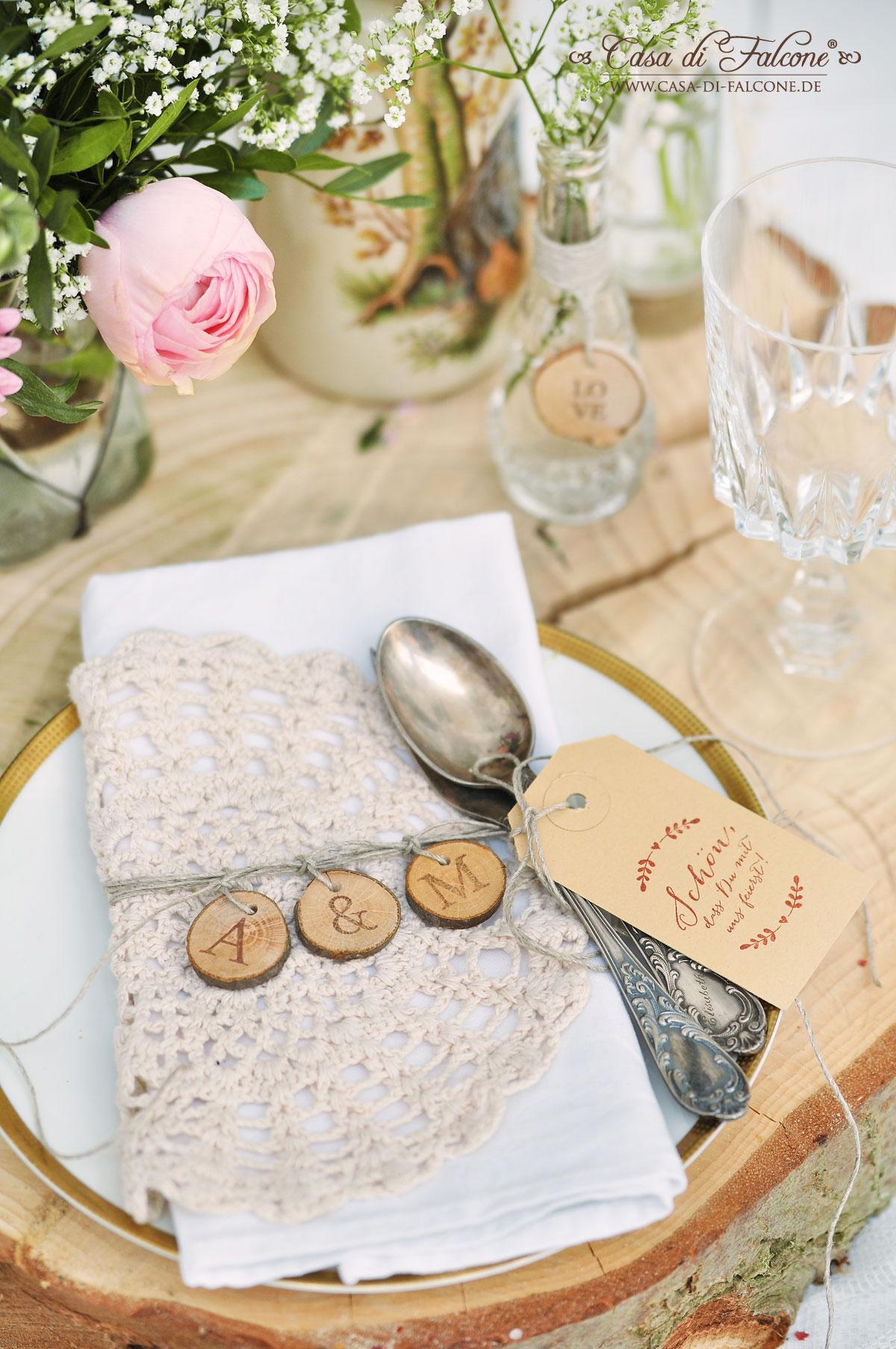 Schoner Heiraten Rustikale Tischdeko Mit Baumscheiben Casa Di Falcone