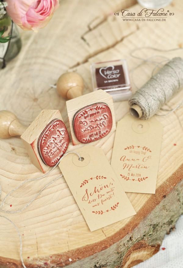 Schöner heiraten: rustikale Hochzeitssstempel Ranke I Gastgeschenk I Casa di Falcone
