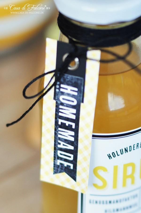 Holunderblütensirup I Flaschenverpackung I Casa di Falcone