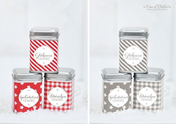 Gewürzdosen Metall I Verpackung I Geschenke aus der Küche I Casa di Falcone