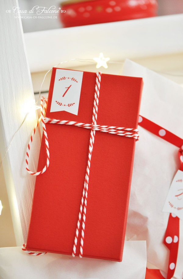 DIY Adventskalender No.19 in rot-weiss I Casa di Falcone