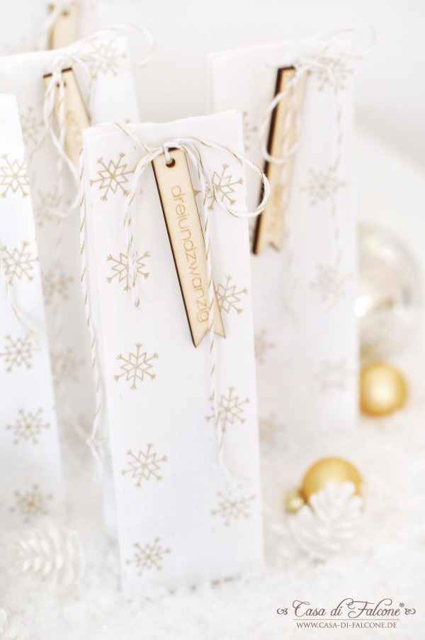 DIY Adventskalender No.20 in weiss-gold I Casa di Falcone