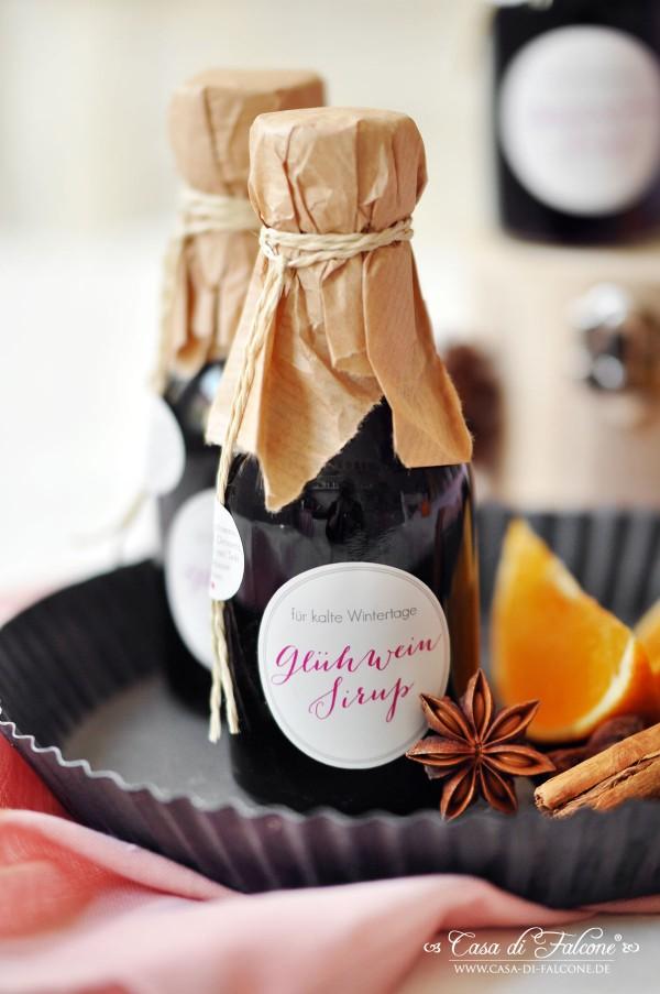 Glühweinsirup Rezept & Verpackungsidee I Geschenke aus der Küche I Casa di Falcone