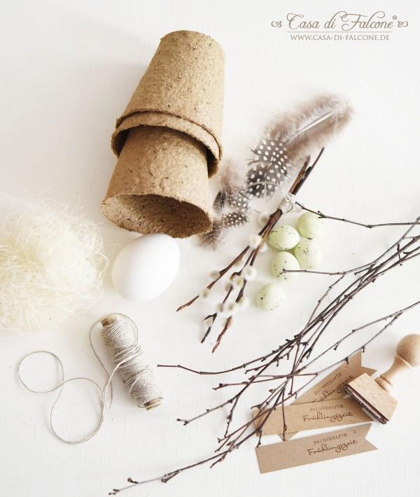 DIY Osternest aus Naturmaterialien I Osterdeko I Casa di Falcone