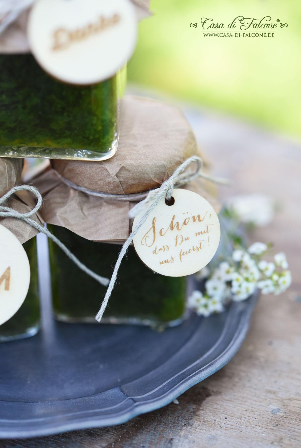 Schöner heiraten Pesto als Gastgeschenk Casa di Falcone