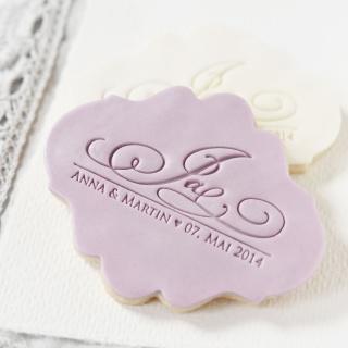 Hochzeitskekse I Keksstempel individuell I essbare Gastgeschenke