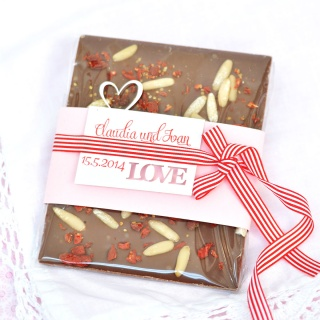 Hochzeitsschokolade I Lasercut Karte I Gastgeschenk Hochzeit