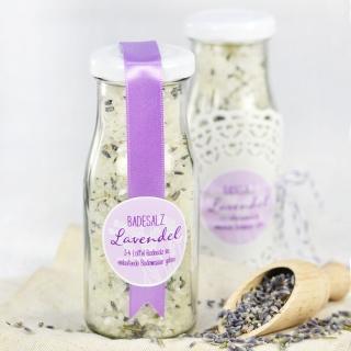 Badesalz mit Lavendel I Rezept I Gastgeschenk