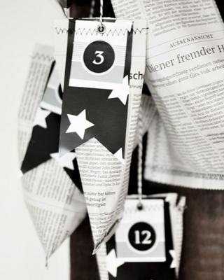 Adventskalender No. 5 schwarz-weiss