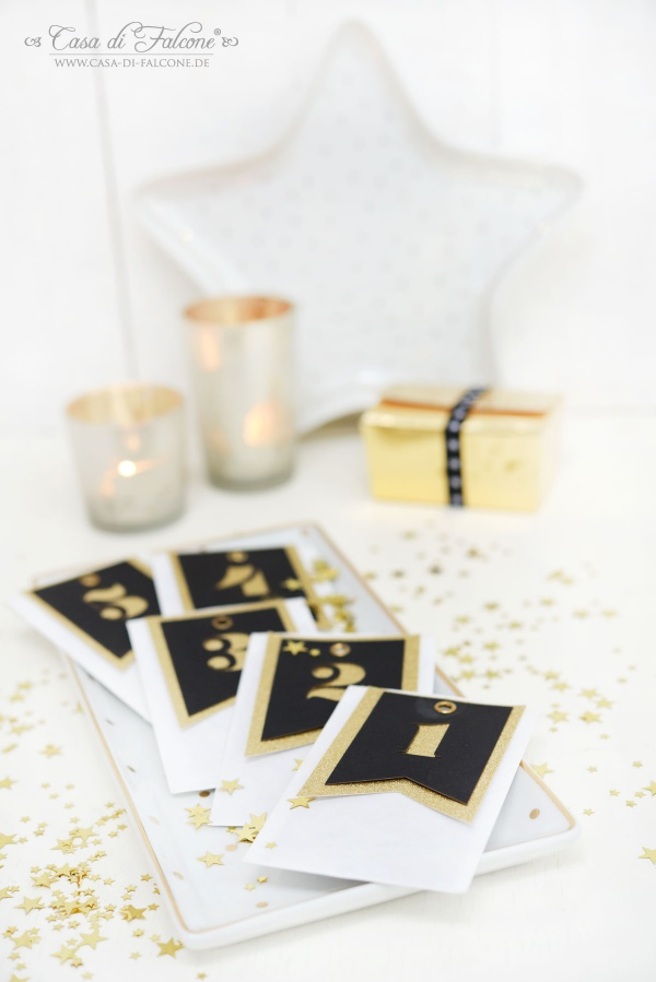 Adventskalender schwarz-gold I Adventskalendertüten I Casa di Falcone