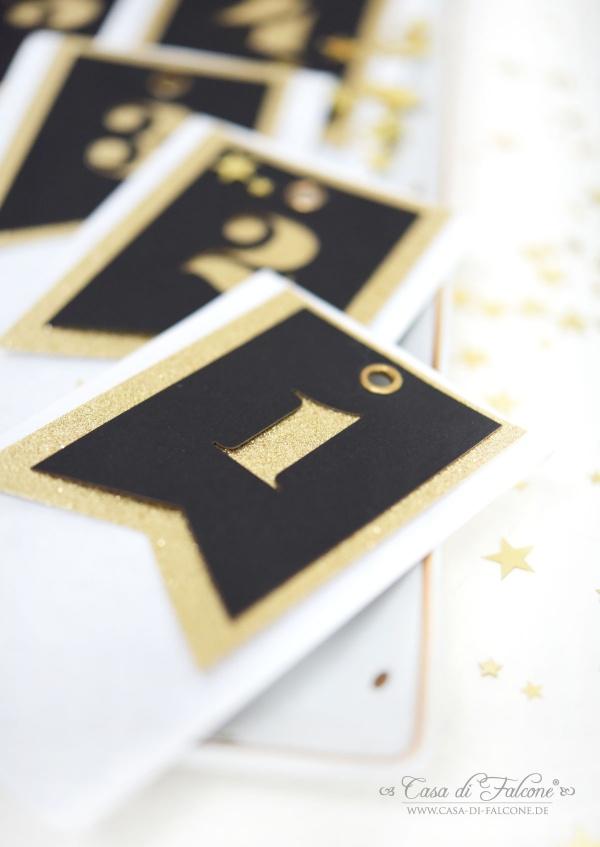 Adventskalender schwarz-gold I Casa di Falcone