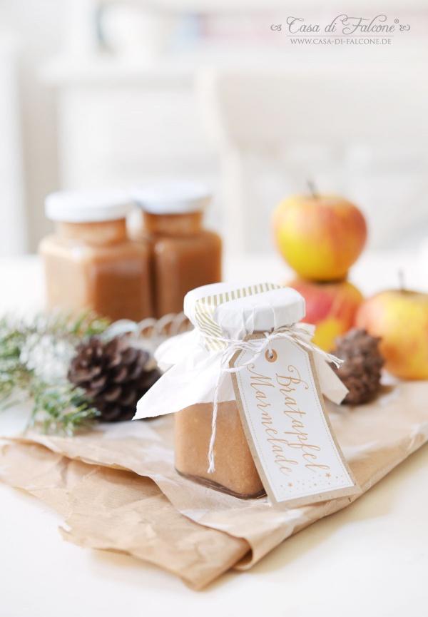 Bratapfelmarmelade Rezept I Marmeladenaufkleber I Casa di Falcone