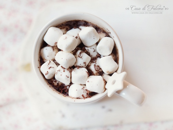 Trinkschokoladenpulver Rezept I Heiße Schokolade mit Marshmallows I Casa di Falcone