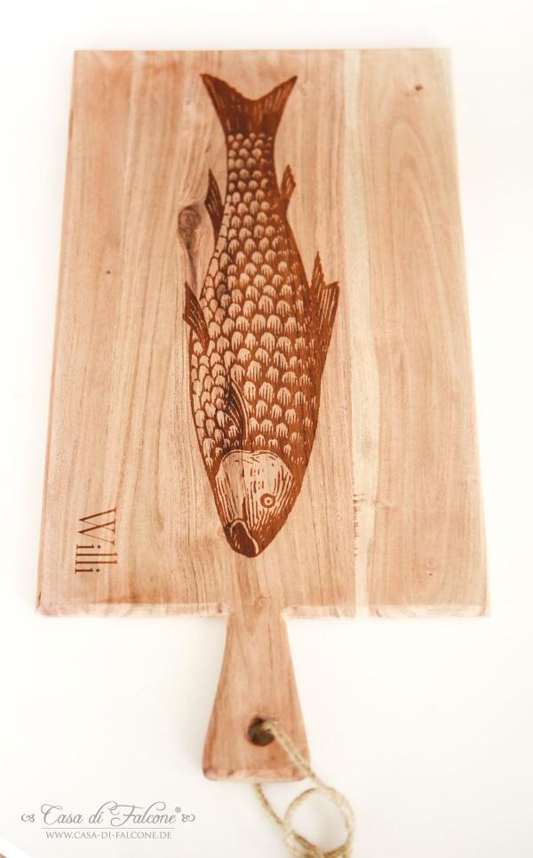 personalisiertes Schneidebrett mit Gravur I graviertes Holzbrett I Männergeschenke I Casa di Falcone