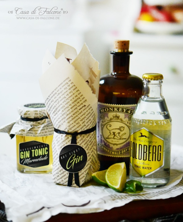 Gin Tonic Marmelade Rezept & Verpackung