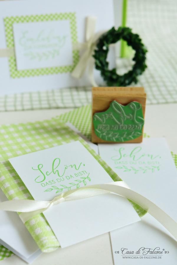 Ideen Kommunion I Tischdeko Servietten grün