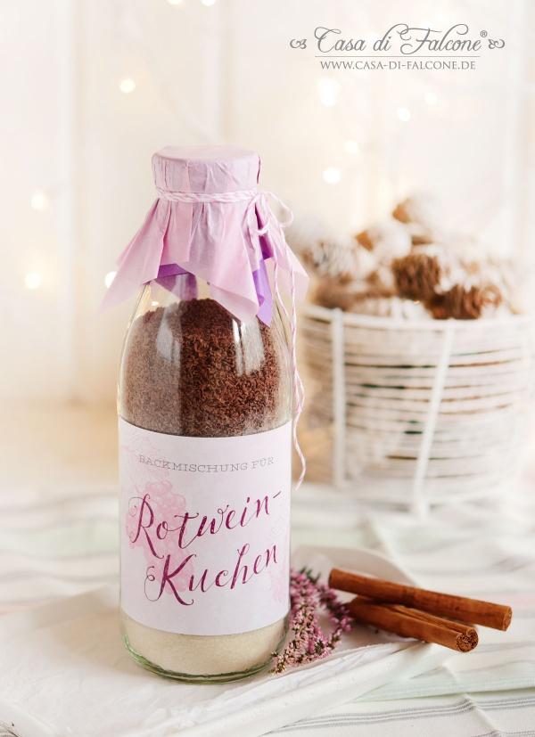 Rotweinkuchen I Backmischung im Glas {Rezept}